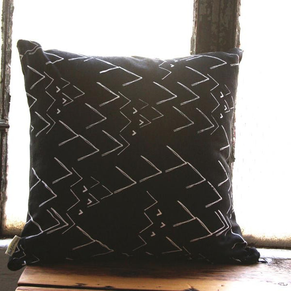 Black and White Migration Pillow