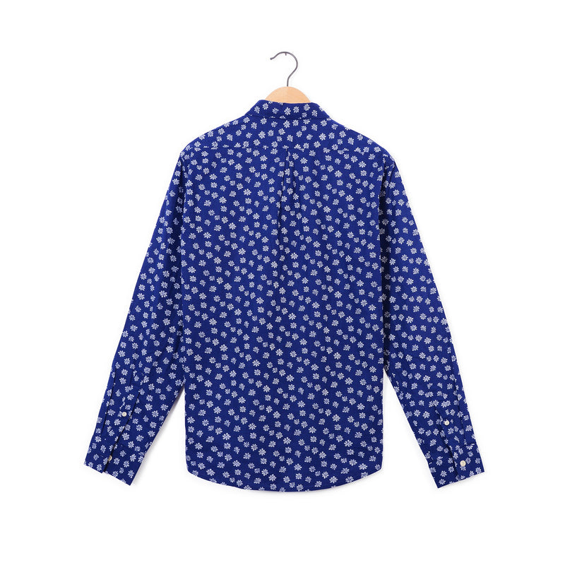 Camisa Manga Larga Estampada Jack Supplies para Hombre - Azul