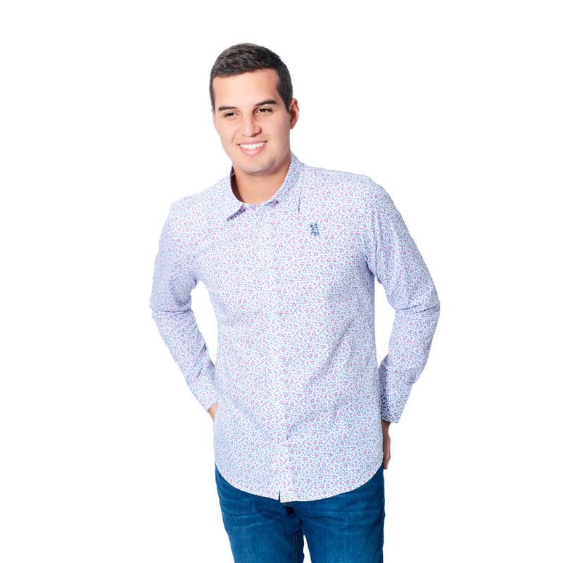 Camisa Manga Larga Jack Supplies Para Hombre - Blanco