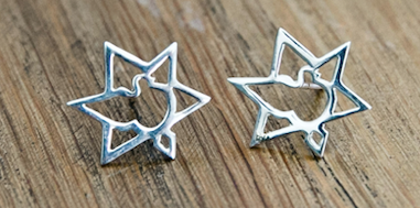 Star of Zion Earrings - Touching His Hem