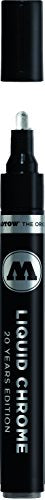 Molotow ONE4ALL Acrylic Paint Pump Marker, 4mm, Liquid Chrome, 1 Each (703.103)