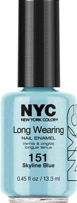 New York Color Long Wearing Nail Enamel - Skyline Blue (Pack of 3) by N.Y.C.