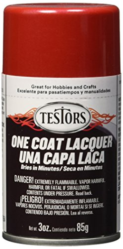 Testors Aerosol Lacquer Paint 3oz-Revving Red