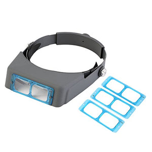 Headband Magnifier Visor Double Lens, YTOM Head Mounted Magnifier Jewelers Jewelry Visor Opitcal Glass Binocular Magnifier with Lens - 1.5X 2X 2.5X 3.5X Magnification