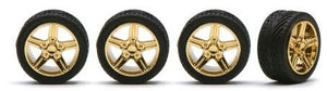 Pegasus Gold Irok Rims with Tires 1:24 Scale