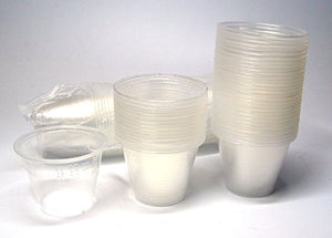 NSI 100 Epoxy Resin Mixing Cups 30ml (1 Oz) Graduated Plastic