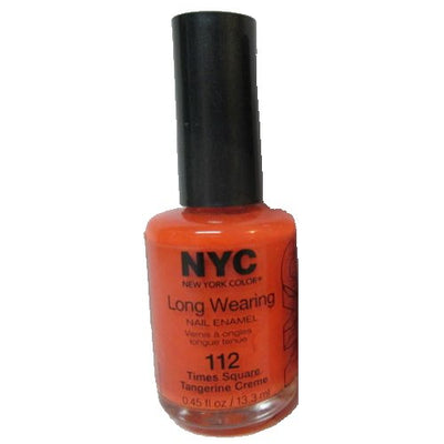 (3 Pack) NYC Long Wearing Nail Enamel - Times Square Tangerine