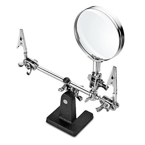 TOHO Flexible Soldering Helping Hands 360/°Rotary Third Pana Hand Station Daylight LED 3X Magnifying Lamp USB Plug-Type with 3 Adjustable Light Settings,Swiveling Clips a//A