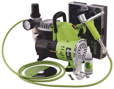 Grex GCK01 Combo Kit with Genesis.XT and AC1810-A Air Compressor Airbrush