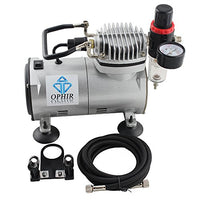 OPHIR 110V PRO Air Compressor with 2PCS Airbrush Spray Gun Paint for Model Hobby Cake Decorating Makeup