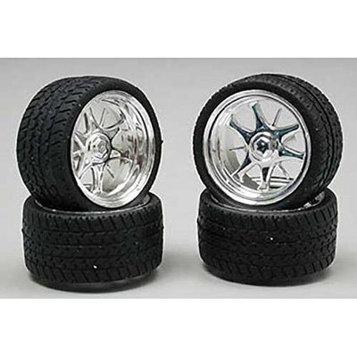 Pegasus Hobbies 1226 1/24-1/25 Daggars Chrome Rim/Tires (4)