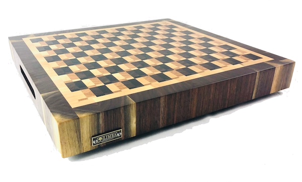 Mirrored Checkered Butcher Block End Grain | Cutting Boards - LIMBA Woodcraft
