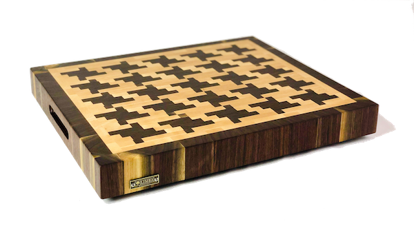 Houndstooth Butcher Block End Grain 18x18x2