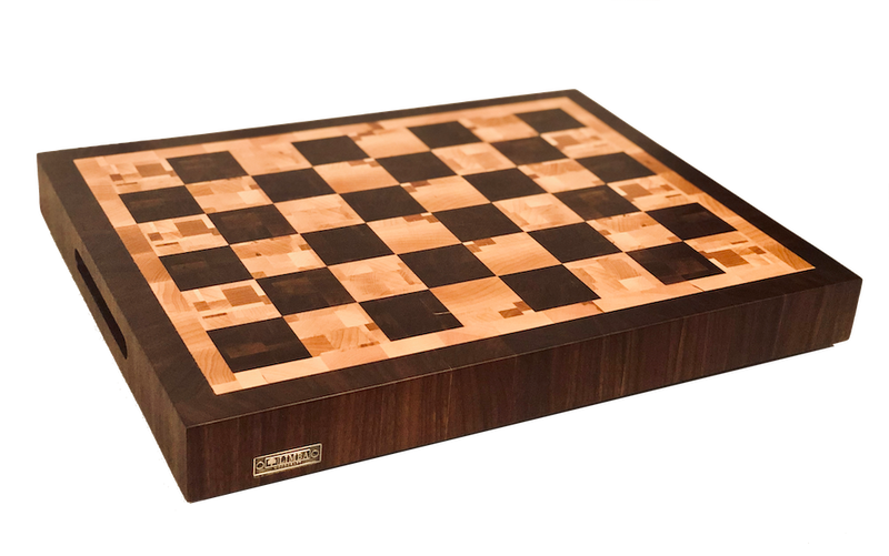 Checkerboard Butcher Block End Grain 19x15x2