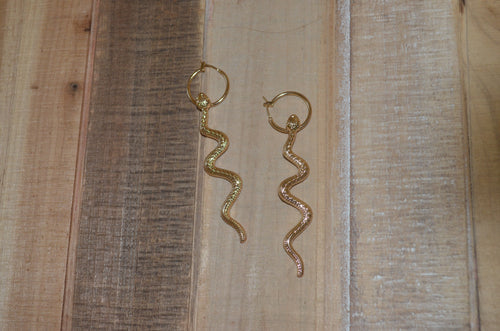 Dangle Snake Hoops
