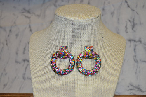 Speckled Rhinestone Earrings