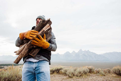 Bubba carrying wood