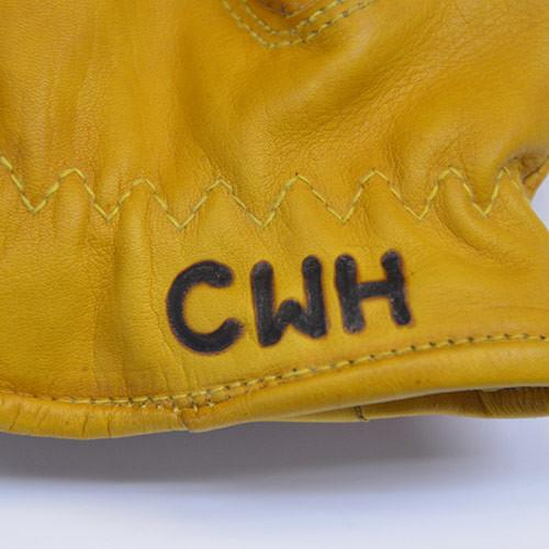 Give'r Lightweight Leather Work Gloves with Custom Branded Personalized Initials