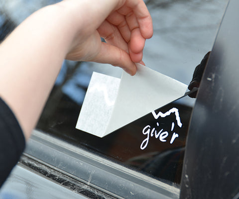 Give'r Sticker, Tetons, Jackson Hole, Die-Cut Sticker Install