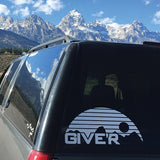 Give'r Sticker, Tetons, Grand Teton National Park, Jackson Hole, Die-Cut