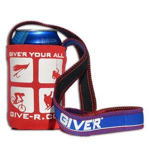 4th of July Coozie, BBQ Koozie, Neck Coozie, Croozie, River Runner, coosie, koozie, cozy, neck strap coozie, neck strap koozie, river coozie