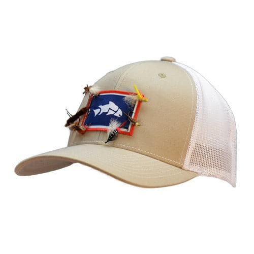 Give 39 r camo trout hat wyoming trout hat by give 39 r for Trout fishing hats