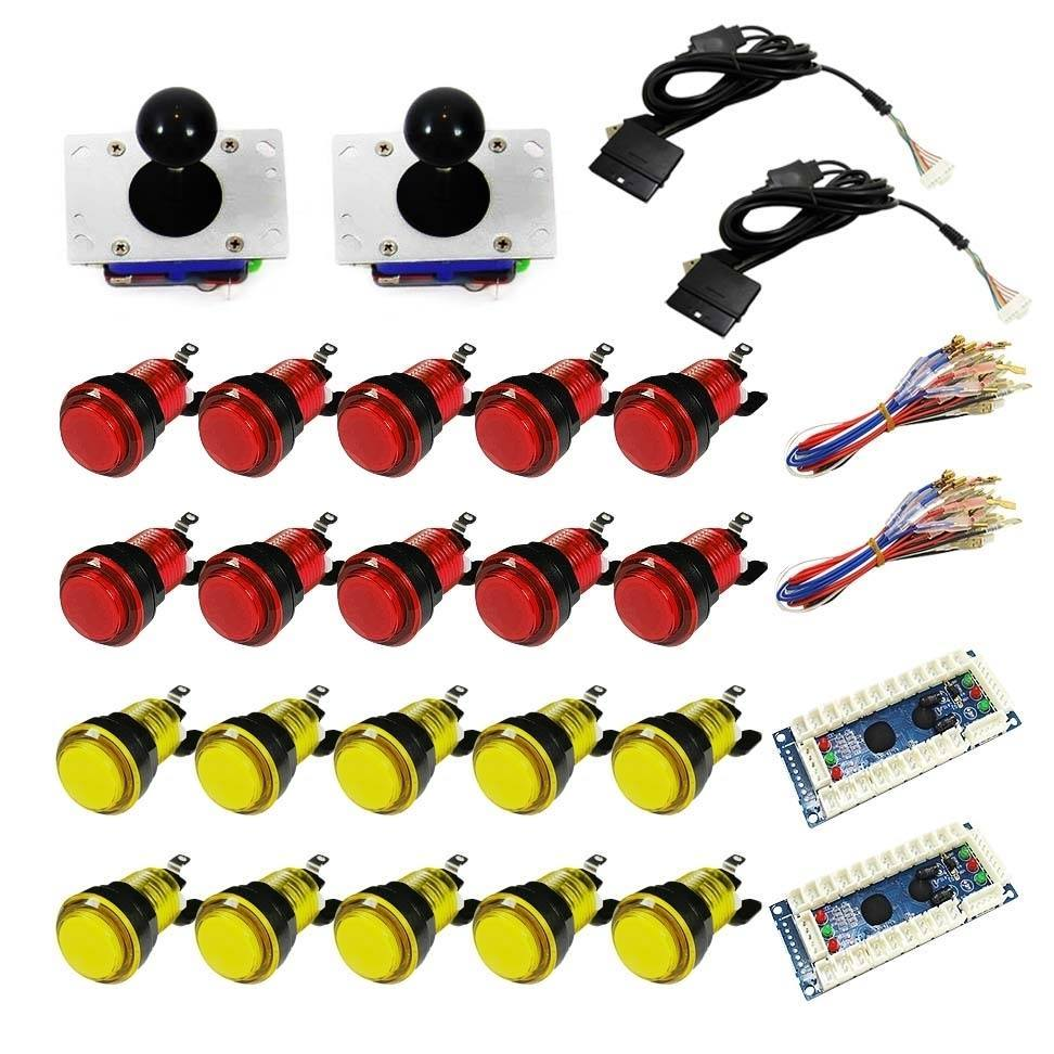 Illuminated USB Arcade Kit (for PC/PS3/MAME) Red &  Yellow