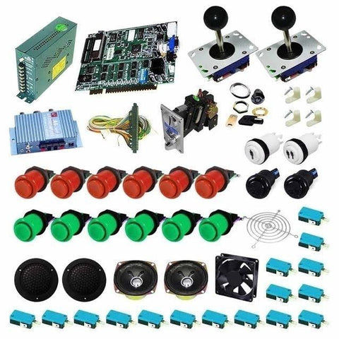 Ultimate 19 in 1 DIY Arcade Kits (Red & Green)