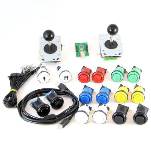 USB Arcade Kit (for PC/PS3/MAME) Color Combination - DIY Arcade Australia