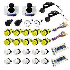 USB Arcade Kit (for PC/PS3/MAME) Yellow & White