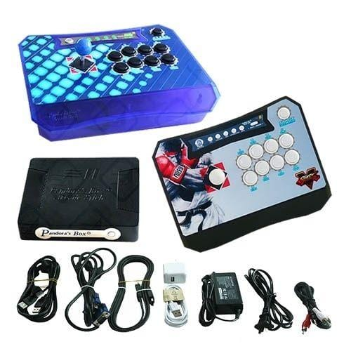 Wireless Arcade Stick Home Console with 680 Games (Two player) Blue & Black - DIY Arcade Australia