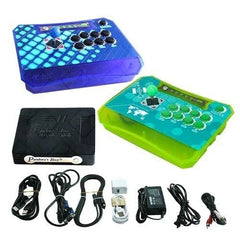 Wireless Arcade Stick Home Console with 680 Games (Two player) Blue & Green