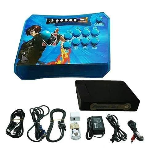 Wireless Arcade Stick Home Console with 815 games (One player) Blue - DIY Arcade Australia