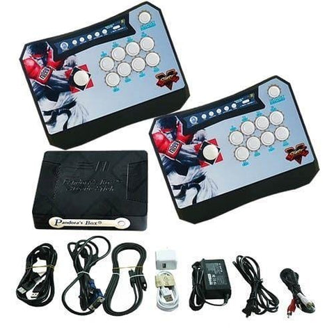 Wireless Arcade Stick Home Console with 815 Games (Two player) All Black