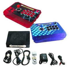 Wireless Arcade Stick Home Console with 815 Games (Two player) Red & Blue