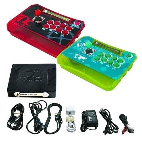 Wireless Arcade Stick Home Console with 815 Games (Two player) Red & Green