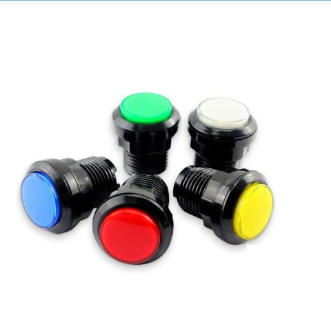 Illuminated Black Ring Arcade Buttons - DIY Arcade Australia