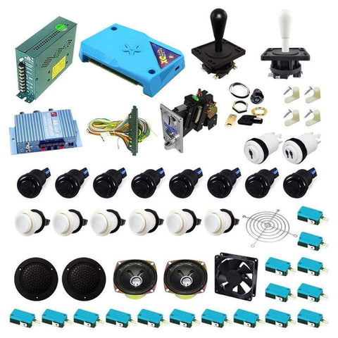 Ultimate 3000 in 1 Happ Kit - White/Black - DIY Arcade Australia
