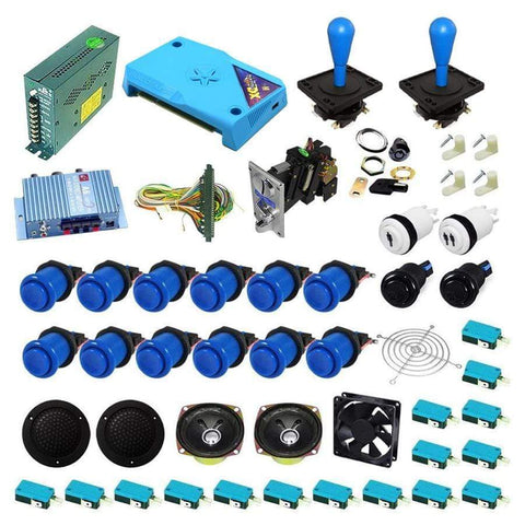 Ultimate 3000 in 1 Happ Kit - Blue/Blue - DIY Arcade Australia