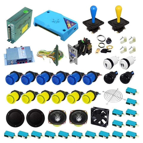 Ultimate 3000 in 1 Happ Kit - Blue/Yellow - DIY Arcade Australia