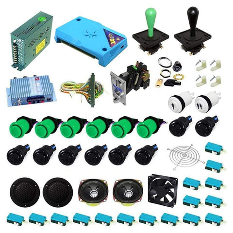 Ultimate 3000 in 1 Happ Kit - Green/Black - DIY Arcade Australia