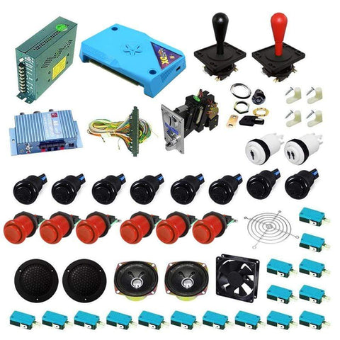 Ultimate 3000 in 1 Happ Kit - Red/Black - DIY Arcade Australia