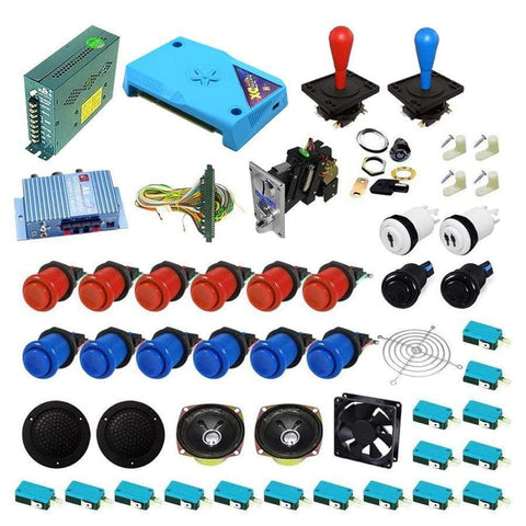 Ultimate 3000 in 1 Happ Kit - Red/Blue - DIY Arcade Australia