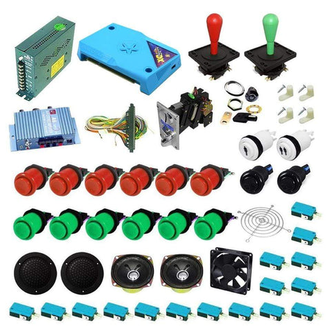 Ultimate 3000 in 1 Happ Kit - Red/Green - DIY Arcade Australia