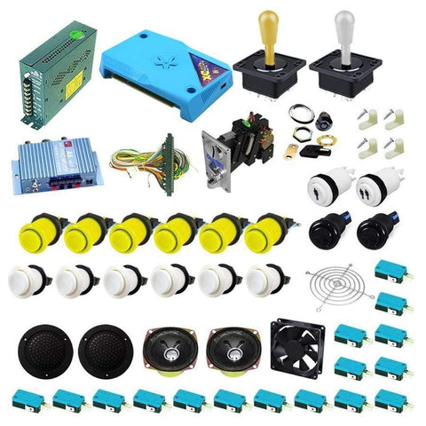 Ultimate 3000 in 1 Happ Kit - Yellow/White - DIY Arcade Australia