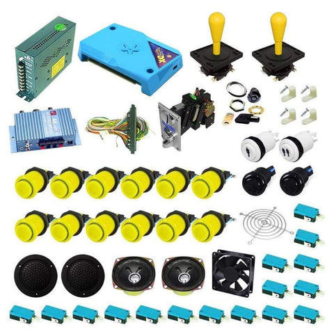 Ultimate 3000 in 1 Happ Kit - Yellow/Yellow - DIY Arcade Australia