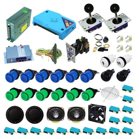 Ultimate 3000 in 1 Kit - Blue/Green - DIY Arcade Australia