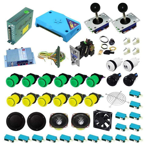 Ultimate 3000 in 1 Kit - Green/Yellow - DIY Arcade Australia