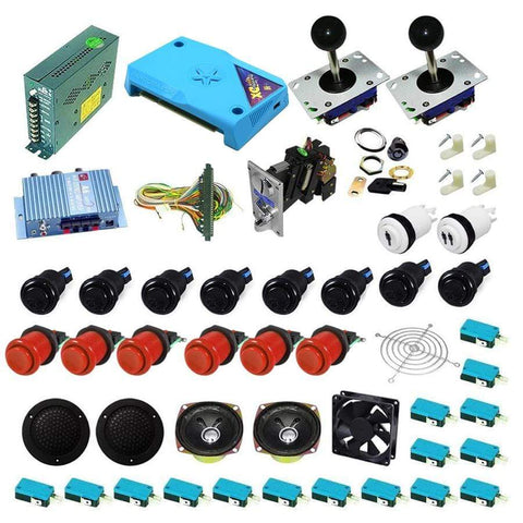 Ultimate 3000 in 1 Kit - Red/Black - DIY Arcade Australia