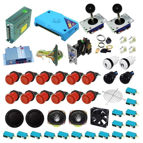 Ultimate 3000 in 1 Kit - Red/Red - DIY Arcade Australia